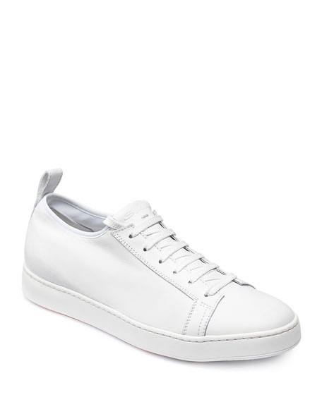 Santoni Men's Leather Low-Top Sneakers