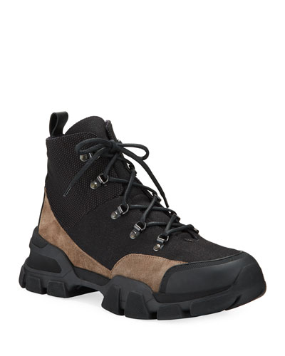 Men's Fernando Colorblock Leather Hiking Boots