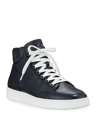 Men's Pete Mid-Top Leather Sneakers