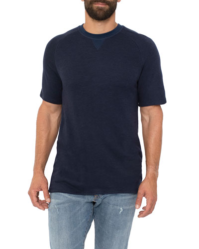 Men's Sherpa Crewneck Short-Sleeve Raglan T-Shirt