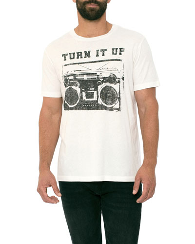 Men's Turn It Up Radio Graphic T-Shirt