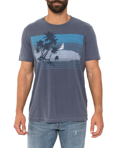 Men's Ocean Breeze Graphic Crewneck T-Shirt