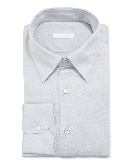 Stefano Ricci Men's Solid Jersey Dress Shirt