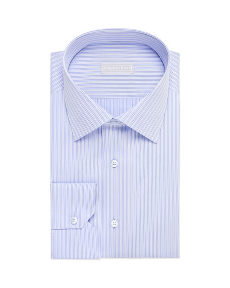 Stefano Ricci Men's Tonal Stripe Dress Shirt