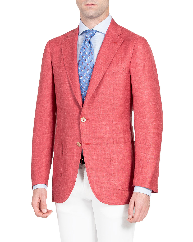 Men's Solid Wool-Blend Blazer