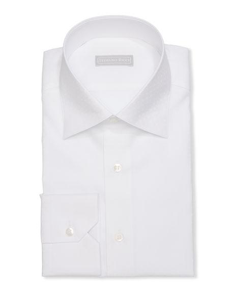 Stefano Ricci Men's Handmade Alba Micro-Pattern Dress Shirt