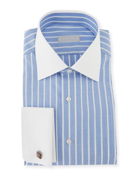 Stefano Ricci Men's Handmade Asti Striped Dress Shirt