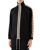 Gucci Men's GG-Striped Jersey Track Jacket