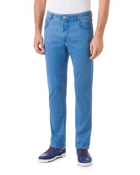 Stefano Ricci Men's 5-Pocket High-Waist Slim Jeans