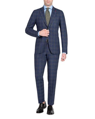 Men's Plaid Wool-Blend Two-Piece Suit