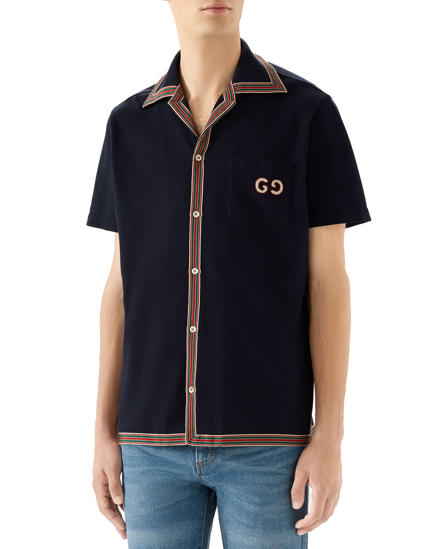Gucci T-shirts MEN'S SHORT-SLEEVE JERSEY SPORT SHIRT