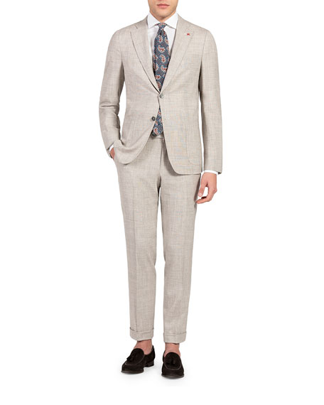 Isaia Men's Solid Two-Piece Suit