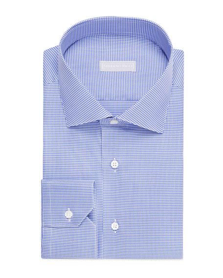 Stefano Ricci Men's Houndstooth Cotton Sport Shirt