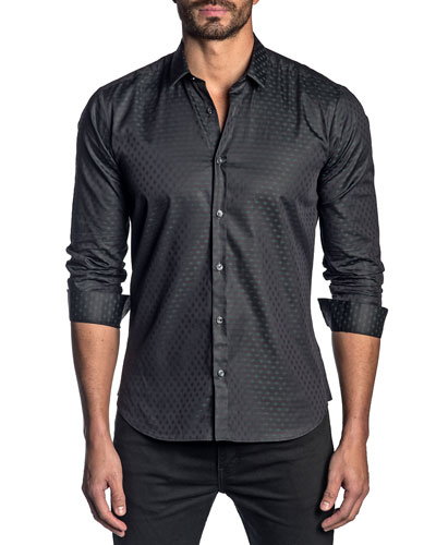 Men's Patterned Cotton Sport Shirt