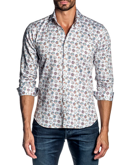 Jared Lang Men's Graphic Sport Shirt
