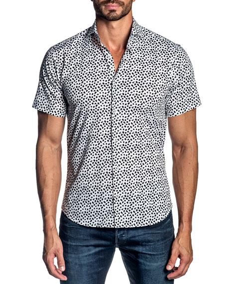 Jared Lang Men's Dotted Short-Sleeve Sport Shirt