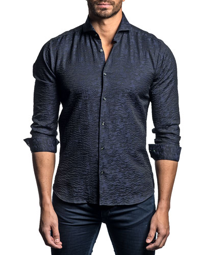 Men's Tonal Camo-Print Sport Shirt