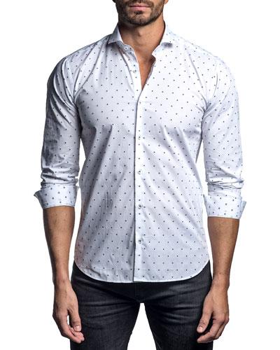 Men's Polka-Dot Sport Shirt