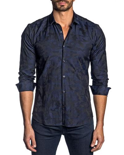 Men's Camo-Print Sport Shirt