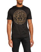 Versace Men's Beaded Medusa T-Shirt