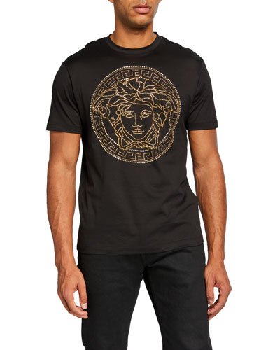 Men's Beaded Medusa T-Shirt