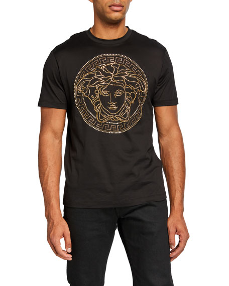Versace Men's Beaded Medusa T-Shirt