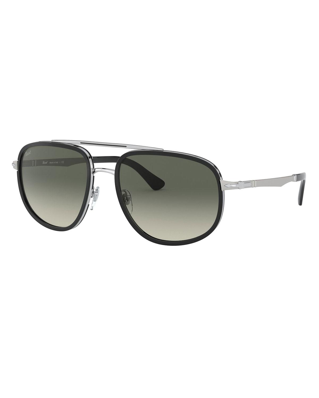 Men's Steel Gradient Aviator Sunglasses