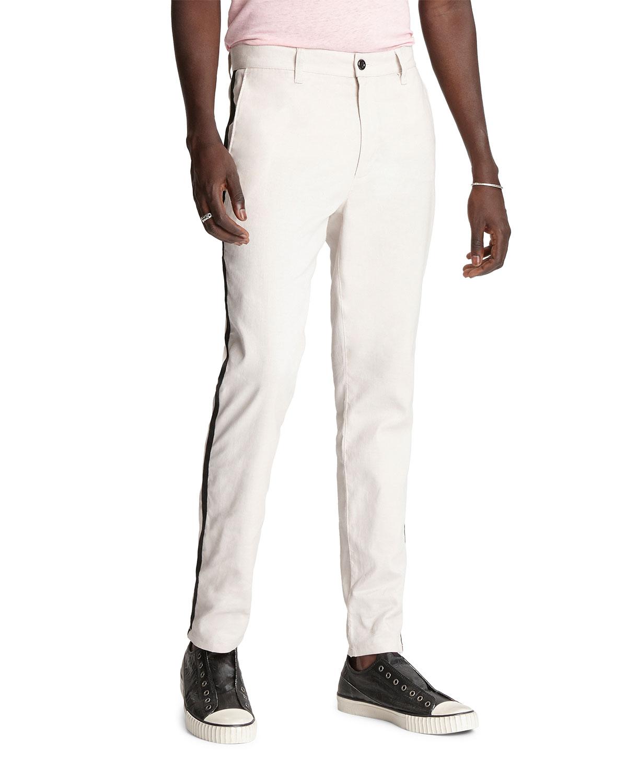 John Varvatos Pants MEN'S LENNY SIDE-STRIPE CHINO PANTS
