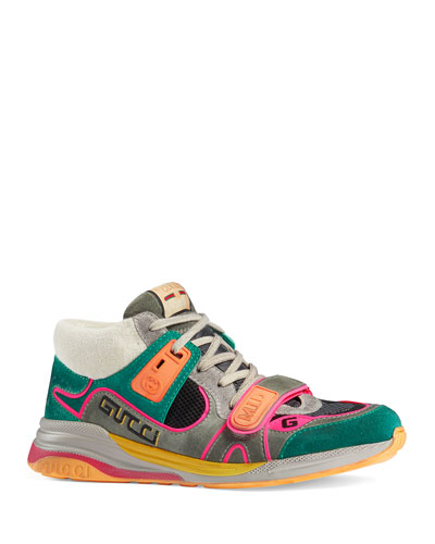 Men's G Line Mixed-Media Mid-Top Sneakers