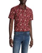 John Varvatos Star USA Men's Jasper Regular-Fit Short-Sleeve