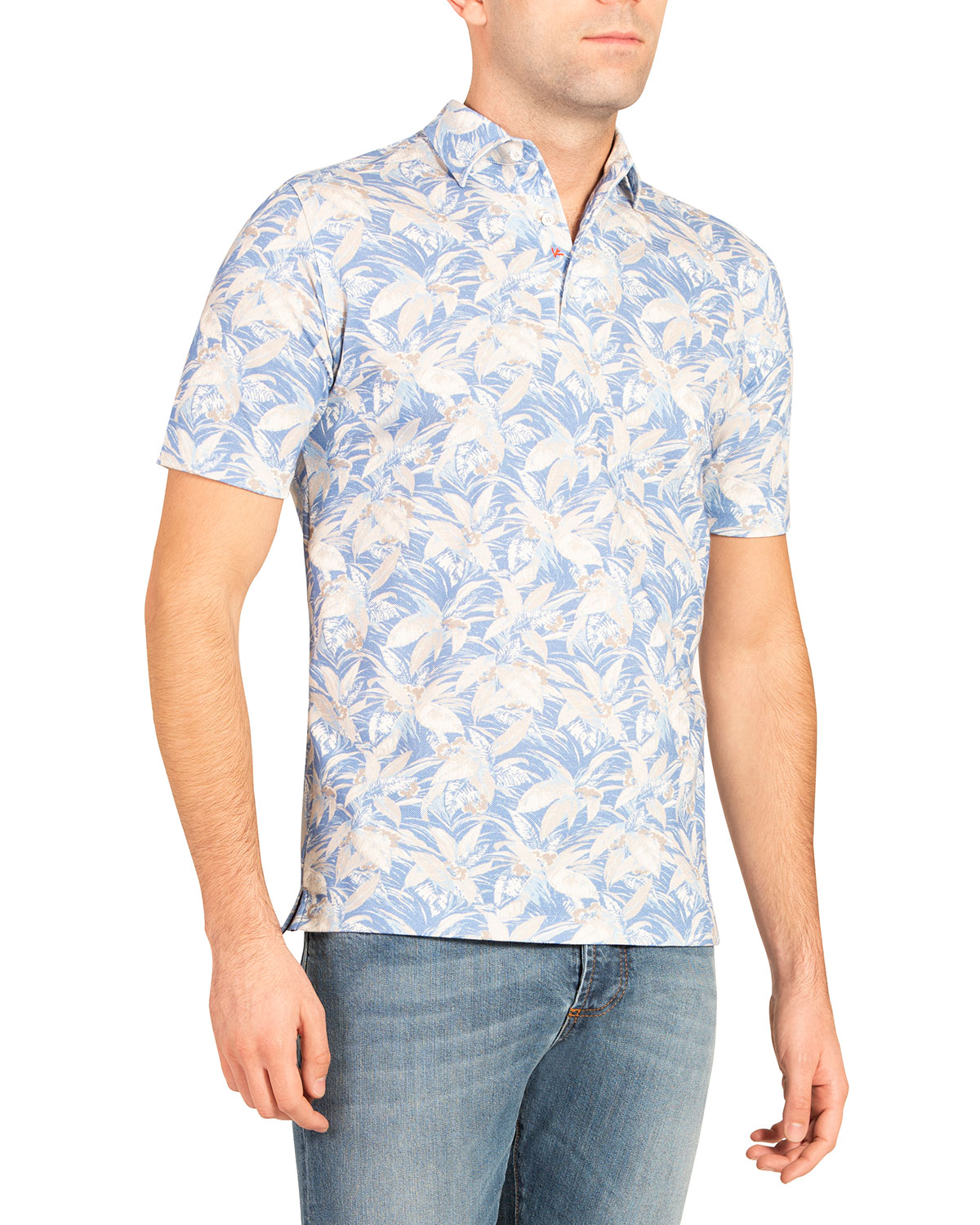 Men's Floral Polo Shirt
