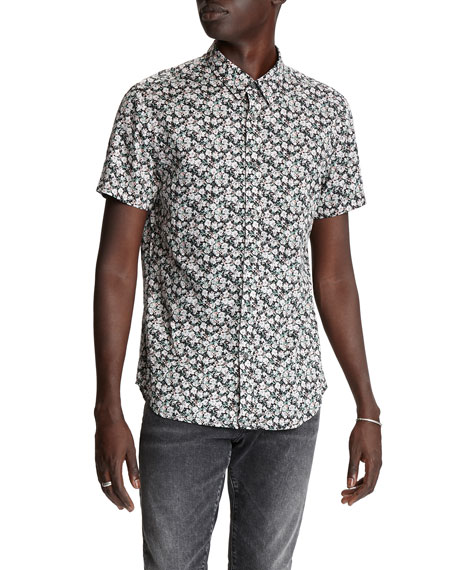 John Varvatos Star USA Men's Doug Regular-Fit Short-Sleeve Sport Shirt