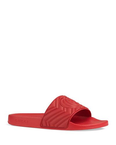 Men's Quilted Rubber Slide Sandals