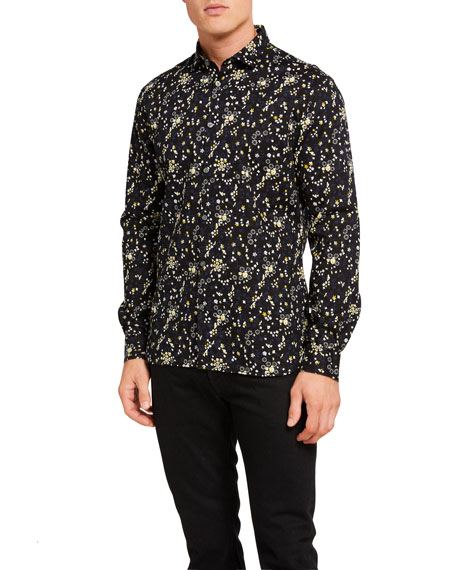 John Varvatos Star USA Men's Ross Bluff Edge-Print Slim Fit Sport Shirt