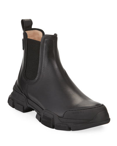 Men's Leon Chunky Leather Chelsea Boots