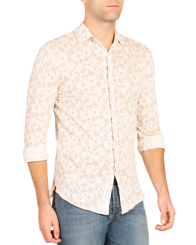 Men's Floral Sport Shirt