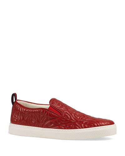 Men's Dublin Rhombus Stitched-GG Slip-On Sneakers