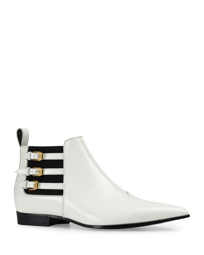 Men's Quebec Point-Toe Buckle-Strap Ankle Boots