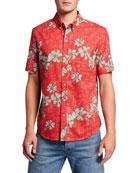 Reyn Spooner Men's 50th State Floral Tailored Short-Sleeve