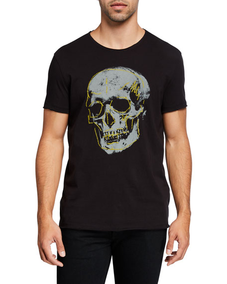 John Varvatos Star USA Men's Skull Graphic T-Shirt
