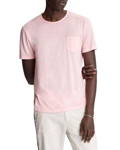 Men's Ames Raw-Edge Pocket T-Shirt