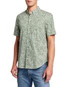 Reyn Spooner Men's Moorea Garden-Pattern Tailored Short-Sleeve