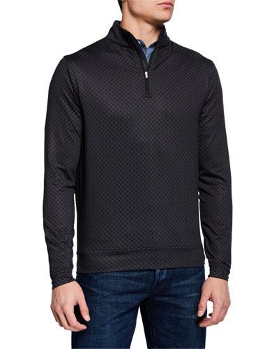 Men's Perth Skull-Pattern Quarter-Zip Sweater