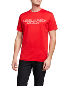 Dsquared2 Men's Cool Fit D2 Milano Logo Tee