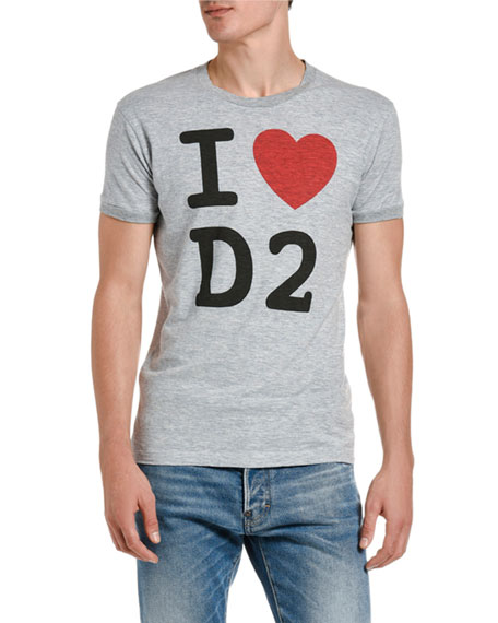 Dsquared2 Men's I Love D2 Graphic T-Shirt