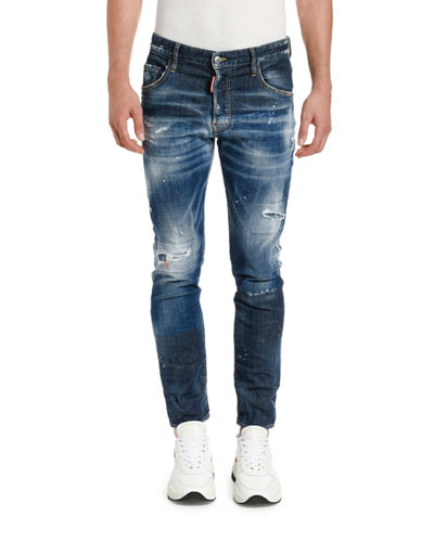 Men's Paint-Splattered Skater Jeans