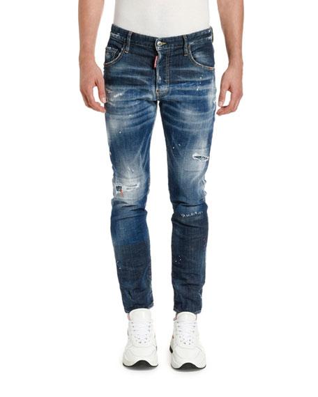 Dsquared2 Men's Paint-Splattered Skater Jeans