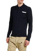 Dsquared2 Men's Long-Sleeve Pocket Polo Shirt