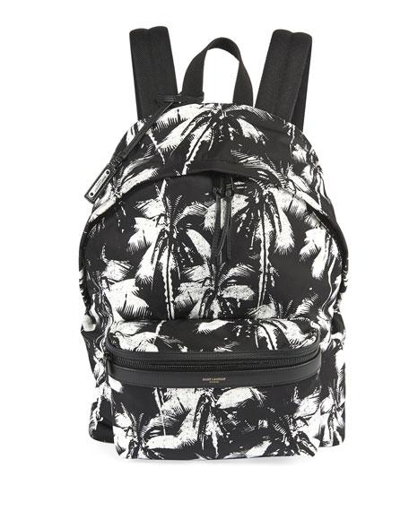 Saint Laurent Men's Two-Tone Palm Tree Backpack