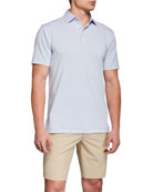 Peter Millar Men's Joyce Striped Stretch-Jersey Polo Shirt